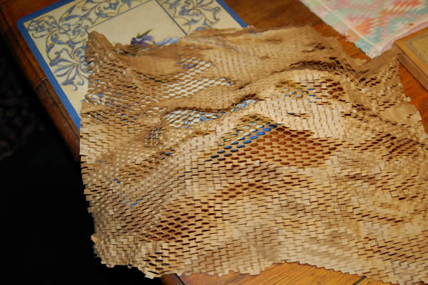 Cool snakeskin paper from Digikey
